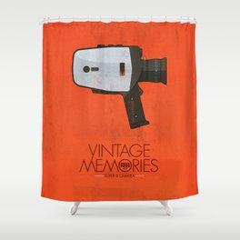 Vintage Memories Super 8 Shower Curtain