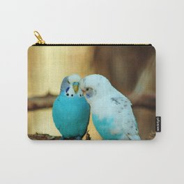 Lovely Pair Of Budgies Carry-All Pouch