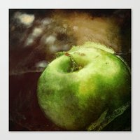 apple Canvas Prints featuring Apple  by Bella Blue Photography