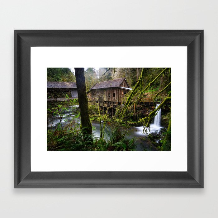 Cedar Creek Grist Mill Framed Art Print