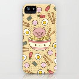 Pig-Chan Ramen Soak iPhone Case