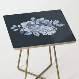 Country Rose on Indigo Side Table