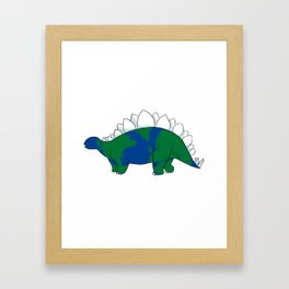 Earth Steggy Framed Art Print