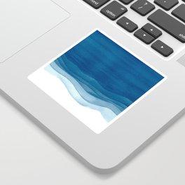 Watercolor blue waves Sticker