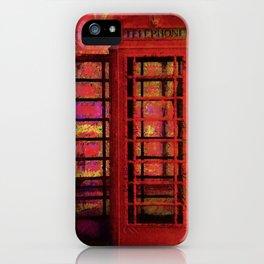 UK Red Phone Box - London England iPhone Case