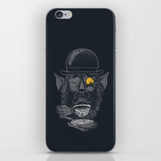 a british gentleman werewolf  iPhone & iPod Skin