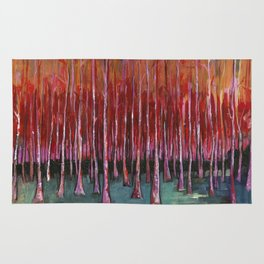 """Autumn Forrest""copywrite Ray Stephenson 2014 Rug"
