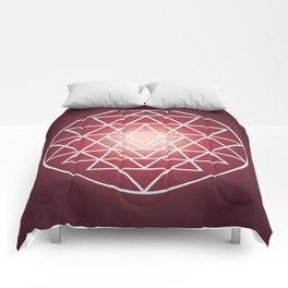 Sacred Geometry Triangle Comforters