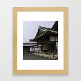 Temple at Kinkakuji in Kyoto, Japan Framed Art Print