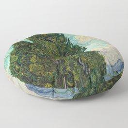 Cypresses - Van Gogh Floor Pillow