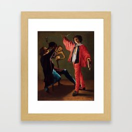 "Judith Leyster ""The Last Drop (The Gay Cavalier)"" Framed Art Print"