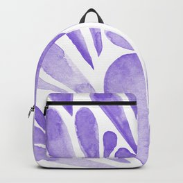Watercolor artistic drops - lilac Backpack