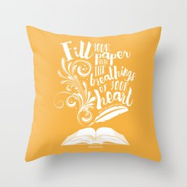 The Breathings of Your Heart Throw Pillow