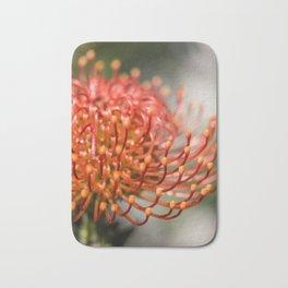 Exotic Pin Cushion Protea Flower- Botanical Photography #Society6 Bath Mat