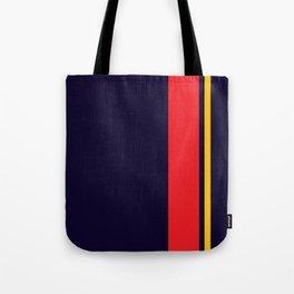 Navy Racer Tote Bag
