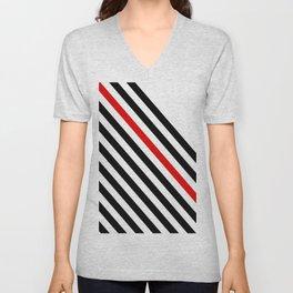 80s stripes Unisex V-Neck