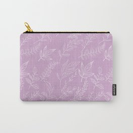 Hand painted pastel pink white elegant floral Carry-All Pouch