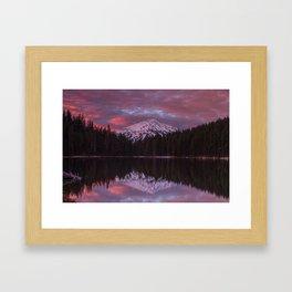 Mt. Bachelor sunrise reflection Framed Art Print