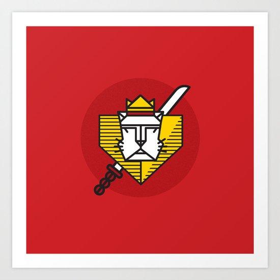 Gryffindor House Crest Icon Art Print