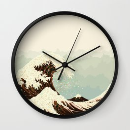 The Great Wave of Donuts Wall Clock