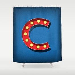 Letter C Initial Cap Shower Curtain