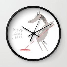 Pferd Gerd kehrt Wall Clock