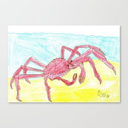 Giant Japanese Spider Crab Canvas Print