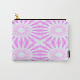 Pink Pinwheel Flowers Carry-All Pouch