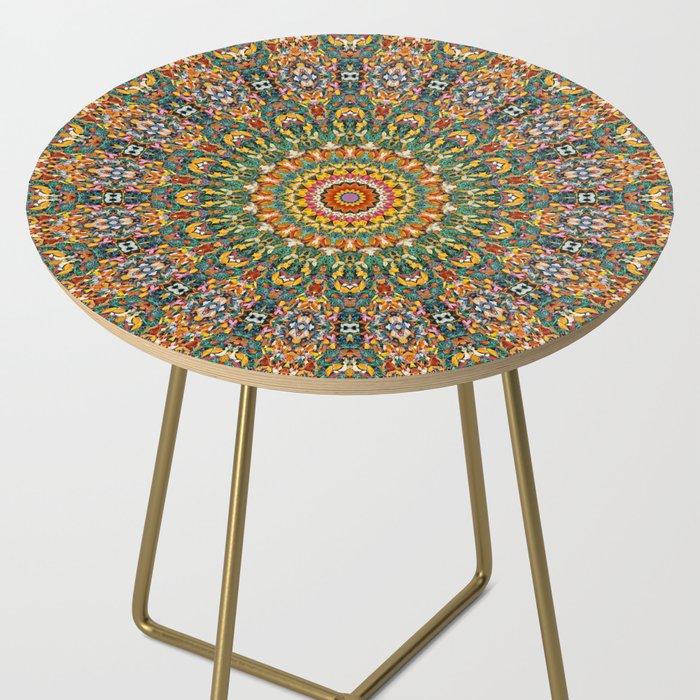 Kaleidoscope Mandala Side Table