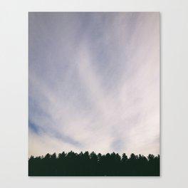 Wispy clouds in the sky. Norfolk, UK Canvas Print