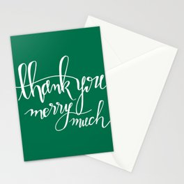 Thank You Merry Much - Green Stationery Cards