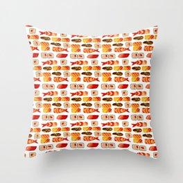 Sushi vibes Throw Pillow