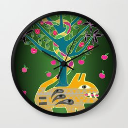 Apple of discord. Wall Clock