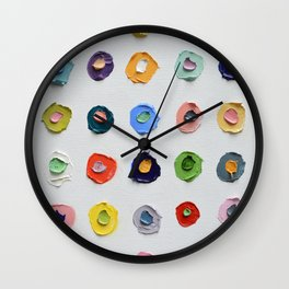 Concentric Polka Daubs Wall Clock