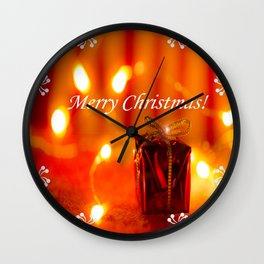 Merry Christmas Still Life #decor #society6 Wall Clock