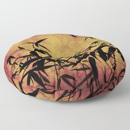 Bamboo parchment Floor Pillow