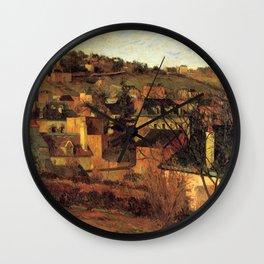 "Paul Gauguin - Blue Roofs of Rouen ""Les toits bleus, Rouen"" (1884) Wall Clock"