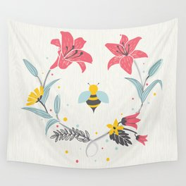 Lily Bee Wall Tapestry