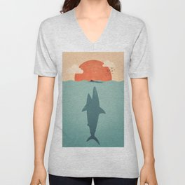 Shark Attack Unisex V-Neck