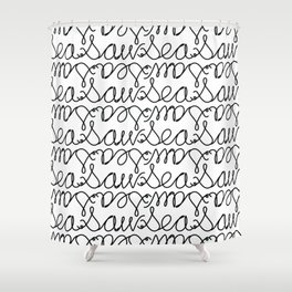 Sea Saw Pattern Shower Curtain