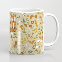 Foxes with Fall Foliage Coffee Mug