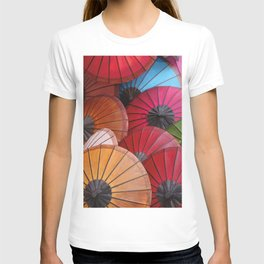 Paper Colored Umbrellas from Laos T-shirt