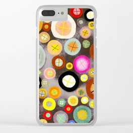 The incident - Circles pale vintage cross Clear iPhone Case