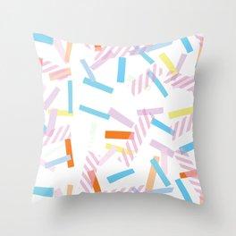 Pastel Pop Lines Throw Pillow