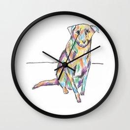 Colored dog Wall Clock