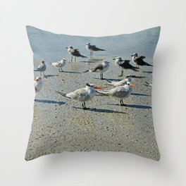Just a Day at the Beach Throw Pillow