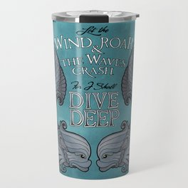 Dive Deep - Silver Dolphins Travel Mug