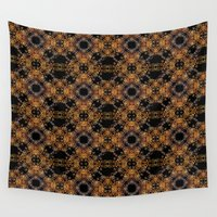 baroque Wall Tapestries featuring Luxury Modern Baroque by DFLC Prints