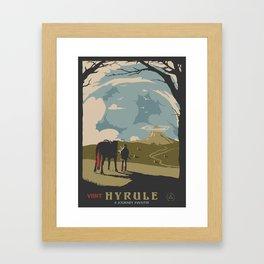Visit Hyrule Framed Art Print