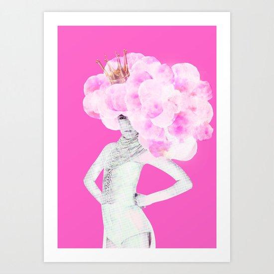 Cotton Candy Queen Art Print